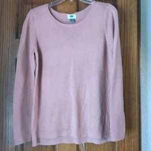 Pink Sweater with Glitter Detail